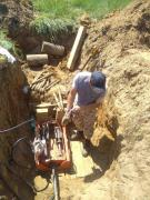All types of earthworks on a mini excavator communication