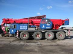We offer to rent cranes of all capacities